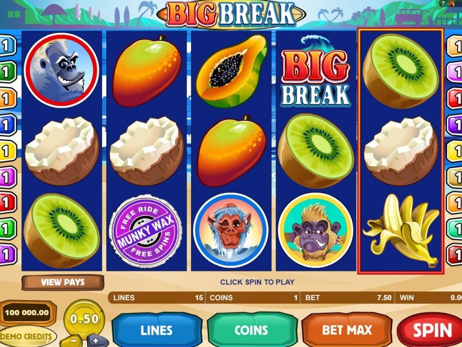 Бесплатный онлайн игровой автомат Big Break без регистрации убережет пользователя от ненужных финансовых вложений.Киселевск